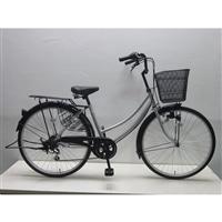 【自転車】軽快車 26インチ 外装6段 CF19-WB266 シルバー