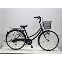 【自転車】軽快車 26インチ 外装6段 CF19-WB266 ワインレッド