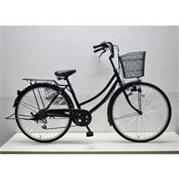 【自転車】軽快車 26インチ 外装6段 CF19-WB266 ブラック