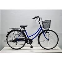 【自転車】軽快車 26インチ 外装6段 CF19-WB266 ブルー