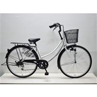 【自転車】軽快車 26インチ 外装6段 CF19-WB266 ホワイト
