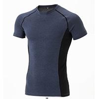 【2020春夏】KR アクティブ肌さらTシャツ 半袖 杢NV M