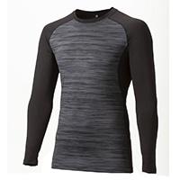 【2020春夏】スピードドライコンプレッションシャツ長袖 杢ブラック M