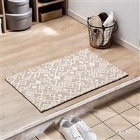 ずれにくい洗える玄関マット セベラル ベージュ 50×80
