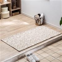 ずれにくい洗える玄関マット セベラル ベージュ 60×120