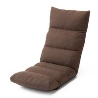 脚が楽になる倒れにくい低反発座椅子 ブラウン