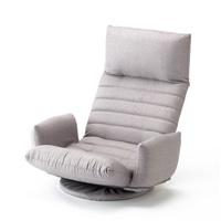肘が掛けられる向き変え楽々回転座椅子 グレー