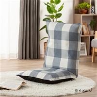 洗える倒れにくい座椅子専用カバー チェック ブルー