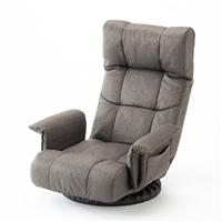 座ったままリクライニングできる低反発回転座椅子