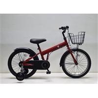 【自転車】補助付き幼児車 フェクター 18インチ レッド