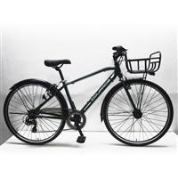 【店舗限定】【自転車】クロスバイク クラージュ COURAGE 700C×35C型 外装7段 LEDオートライト G7HD グリーン