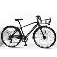 【店舗限定】【自転車】クロスバイク クラージュ COURAGE 700C×35C型 外装7段 LEDオートライト G7HD ブラック