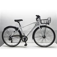 【店舗限定】【自転車】クロスバイク クラージュ COURAGE 700C×35C型 外装7段 LEDオートライト G7HD ホワイト