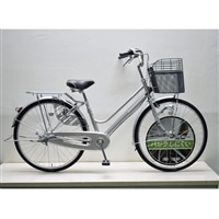 【自転車】キラクル KiLaCle パンクしにくい軽快車 26インチ 内装3段 LEDオートライト シルバー