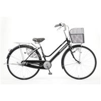 【自転車】キラクル KiLaCle パンクしにくい軽快車 26インチ 内装3段 LEDオートライト ブラック