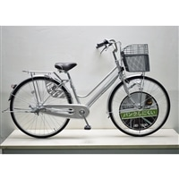 【自転車】キラクル KiLaCle パンクしにくい軽快車 27インチ 内装3段 LEDオートライト シルバー
