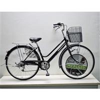 【自転車】キラクル KiLaCle パンクしにくい軽快車 27インチ 外装6段 LEDオートライト ブラック