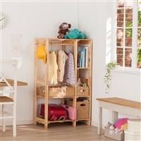 木製ワードローブ 棚付き