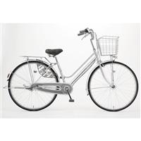 【自転車】KiLaLi キラリ パンクしにくい軽快車 26インチ 内装3段 シルバー