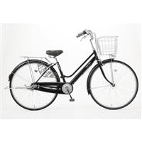 【自転車】KiLaLi キラリ パンクしにくい軽快車 26インチ 内装3段 ブラック