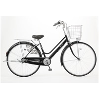 【自転車】KiLaLi キラリ パンクしにくい軽快車 27インチ 内装3段 ブラック