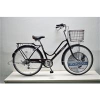 【自転車】キラクル26インチパンクしにくい軽快車 内装3段 オートライト シルバー