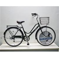 【自転車】KiLaLi キラリ パンクしにくい カジュアル軽快車 26インチ 外装6段 ダークグリーン