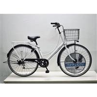 【自転車】KiLaLi キラリ パンクしにくい カジュアル軽快車 27インチ 外装6段 ホワイト