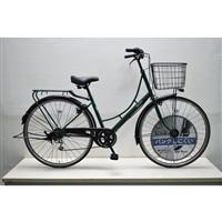 【自転車】KiLaLi キラリ パンクしにくい カジュアル軽快車 27インチ 外装6段 グリーン