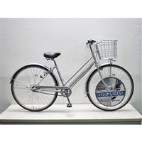 【自転車】キラリ27パンクしにくいシティ車内装3段オートライト シルバー