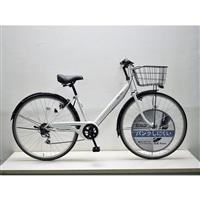 【自転車】キラリ27インチパンクしにくいV型シティ外装6段オートライト ホワイト