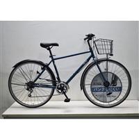 【自転車】キラリ KiLaLi パンクしにくいクロスバイク 27インチ 外装6段 ダークブルー