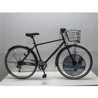 【自転車】KiLaLi キラリ パンクしにくいクロスバイク 27インチ 外装6段 ブラック