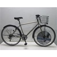 【自転車】キラリ KiLaLi パンクしにくいクロスバイク 27インチ 外装6段 シャンパンゴールド