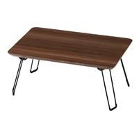 T4 木目調鏡面折りたたみテーブル 60×40 ブラウン