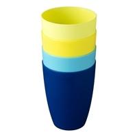 プラカップ 4個入り ブルー