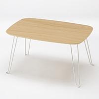 F1 木目折りたたみテーブル 60×40cm ナチュラル