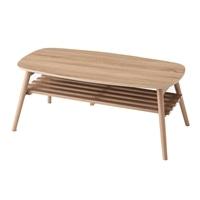 F3 棚が付いたリビングテーブル 100×50 ナチュラル
