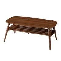F4 棚が付いたリビングテーブル 100×50 ブラウン