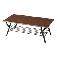 T12 棚付きリビングテーブル 90×45 ブラウン