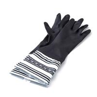 【数量限定】カバー付き ゴム手袋 M ブラック