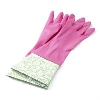 【数量限定】カバー付き ゴム手袋 M ピンク