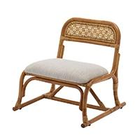 立ち上がり楽々やさしい籐座椅子