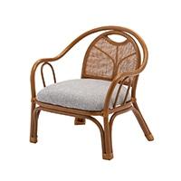 【数量限定】【SU】楽々肘付き籐座椅子 ロータイプ