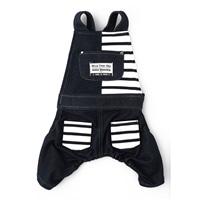 【2021春夏】切替オーバーオール ネイビー 2Lサイズ ペット服(犬の服)