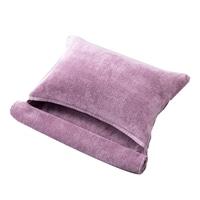 ふんわりやわらかロングタオル枕 パープル