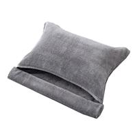 【数量限定】ふんわりやわらかロングタオル枕 グレー