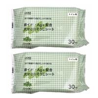 CAINZ トイレ用 銀イオンAg+配合 流せるおそうじシート ミントの香り 30枚×2個