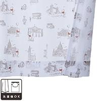 レースカーテン くまのプーさん/ロンドン 100×108 2枚組【別送品】