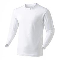 なめらか保温Tシャツ 中厚手 長袖 WH 3L